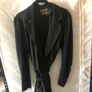 Sexy trench-style black dress by Donna Karan